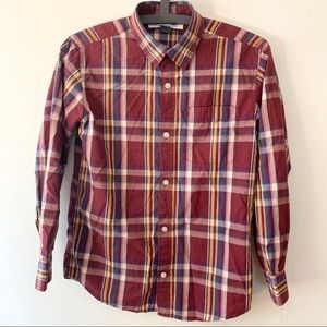 OLD NAVY | Youth Classic Plaid Dress Shirt